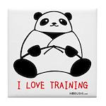 I Love Training: Panda Tile Coaster