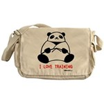 I Love Training: Panda Messenger Bag