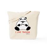 I Love Training: Panda Tote Bag