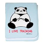 I Love Training: Panda baby blanket