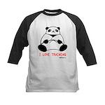 I Love Training: Panda Kids Baseball Jersey