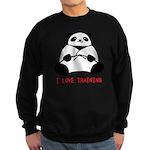 I Love Training: Panda Sweatshirt (dark)