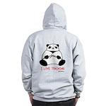 I Love Training: Panda Zip Hoodie