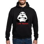 I Love Training: Panda Hoodie (dark)