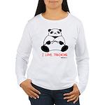 I Love Training: Panda Women's Long Sleeve T-Shirt