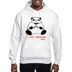 I Love Training: Panda Hooded Sweatshirt