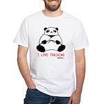 I Love Training: Panda White T-Shirt