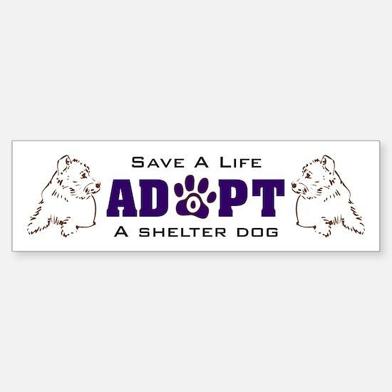 Save A Life Adopt A Shelter Dog Sticker (Bumper)