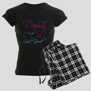 50th Birthday Humor Women's Dark Pajamas