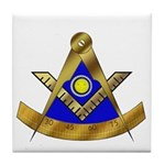 Masonic PM w/Square Tile Coaster