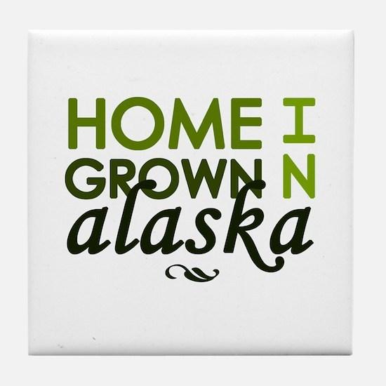 'Home Grown In Alaska' Tile Coaster