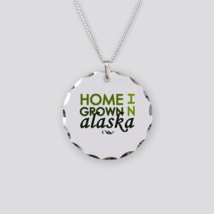 'Home Grown In Alaska' Necklace Circle Charm