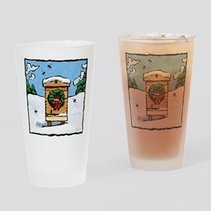 Christmas Bees Drinking Glass