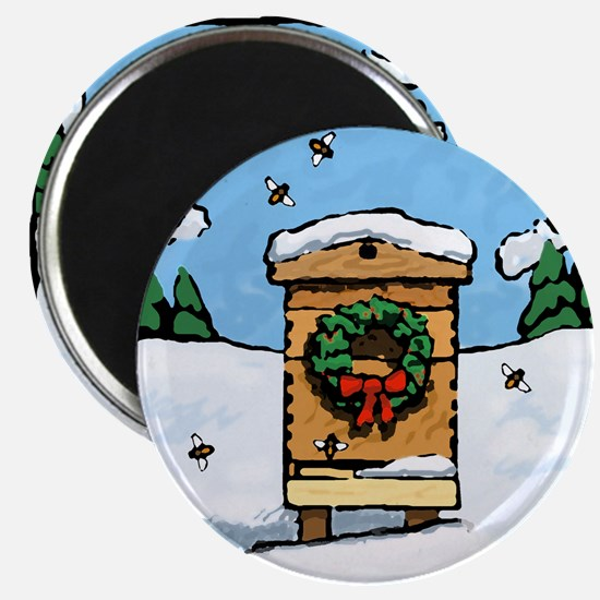 "Christmas Bees 2.25"" Magnet (10 pack)"