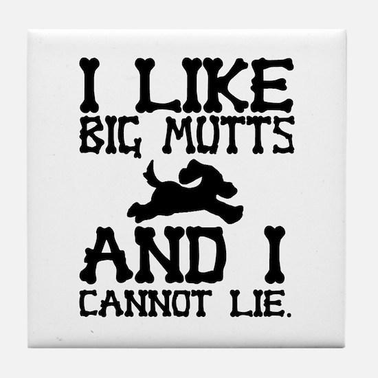 'Big Mutts' Tile Coaster
