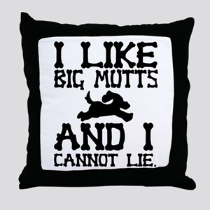 'Big Mutts' Throw Pillow