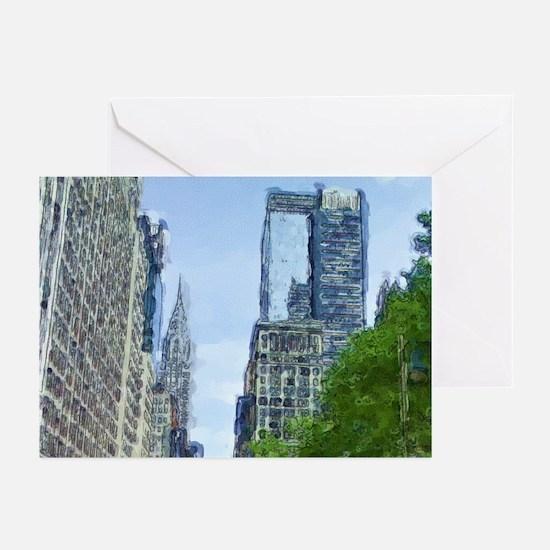New York City - Chrysler Buil Greeting Cards (Pk o