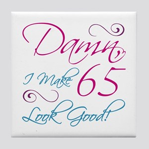 65th Birthday Humor Tile Coaster