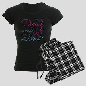 68th Birthday Humor Women's Dark Pajamas