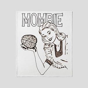 Mombie ~ Zombie Mother Throw Blanket