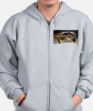 Tail to tail Zip Hoodie