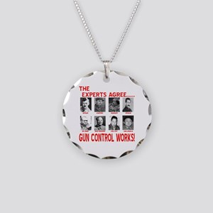 Gun Control Works Necklace Circle Charm