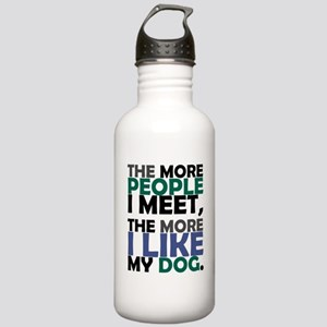 'The More People I Meet...' Stainless Water Bottle