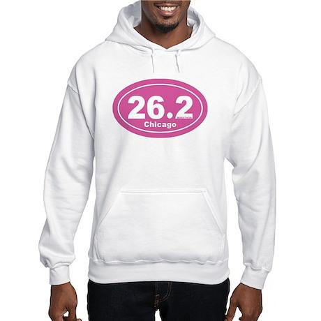 26.2 Marathon Chicago pink 2 Hooded Sweatshirt