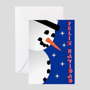 Snowman Holiday - spanish Greeting Card