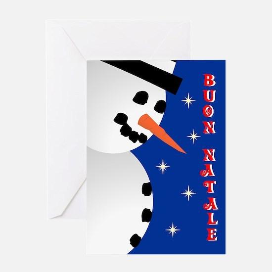 Snowman Holiday - italian Greeting Card