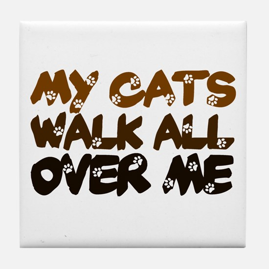 'Walk All Over Me' Tile Coaster