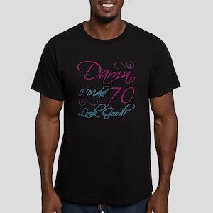 70th Birthday Humor Men's Fitted T-Shirt (dark)