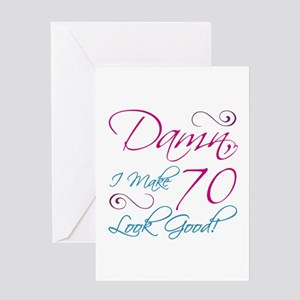 70th Birthday Humor Greeting Card