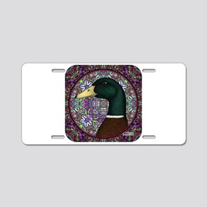 Mallard Circle Mosaic Aluminum License Plate