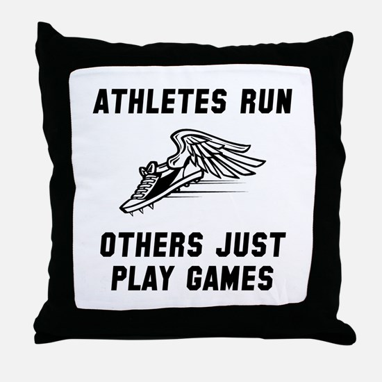 Athletes Run Throw Pillow