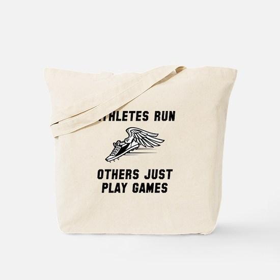 Athletes Run Tote Bag