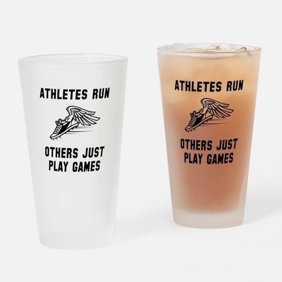 Athletes Run Drinking Glass