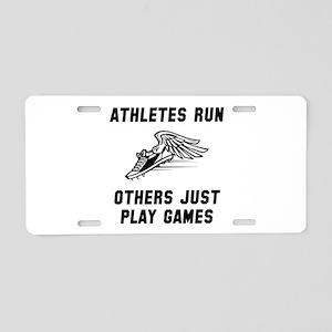 Athletes Run Aluminum License Plate