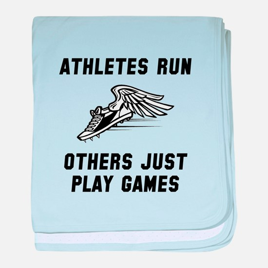 Athletes Run baby blanket