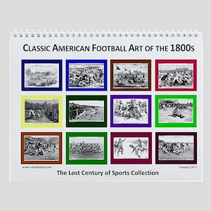 Classic Football Art History Sports Calendar