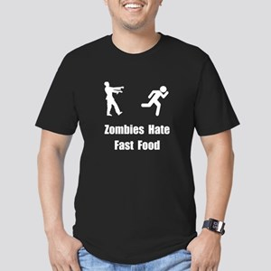 Zombies Hate Fast Food Men's Fitted T-Shirt (dark)