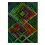 Interlocked Blocks Contemporary Art Small Poster