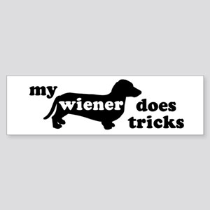 Wiener Tricks Bumper Sticker