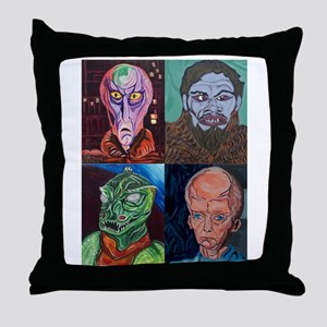 Aliens of Star Trek Throw Pillow