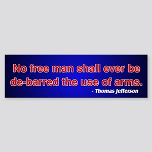 2nd Amendment Thomas Jefferson Bumper Sticker