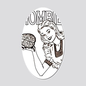 Mombie ~ Zombie Mother 22x14 Oval Wall Peel