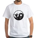 Crane Yin Yang White Tee Shirt