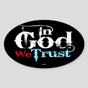 In God We Trust! Sticker (Oval)