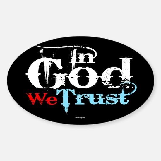 In God We Trust! Sticker (Oval)