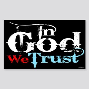In God We Trust! Sticker (Rectangle)